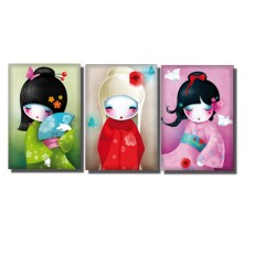 Magnets Trio de Kokeshi