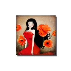 Magnet Orange Poppies