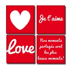 Magnets Quatuor d'amour