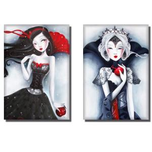 Magnets blanche neige et la m chante reine libellulobar - Blanche neige mechante reine ...