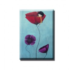 Magnet Painted Poppies
