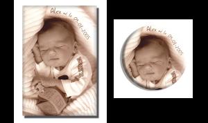Faire-part-magnet naissance