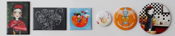 les différents formats disponibles en magnets chez Libellulobar
