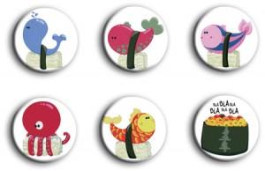 Des sushis en magnets