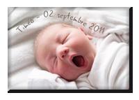 Faire-part magnet naissance