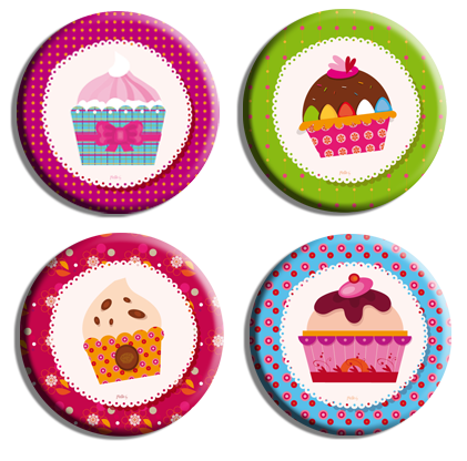 magnets cup-cakes