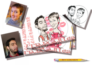 Betty caricatures - faire-part mariage