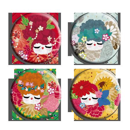 4 magnets colorés pour chaque saison!