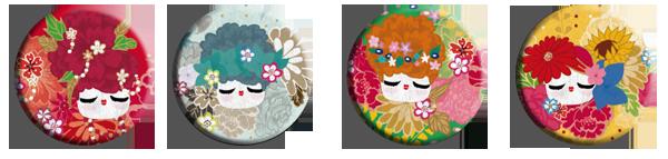 4 jolies magnets fleurs de saisons