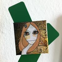 Magnet carré La fille au cou tordu