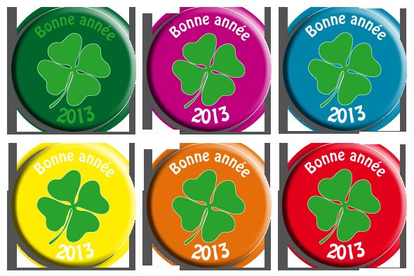 magnet rond bonne année 2013