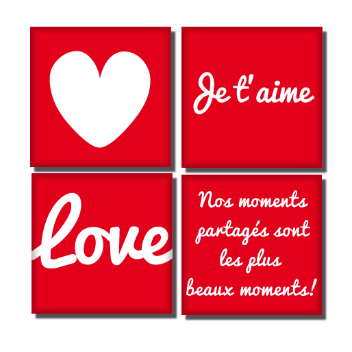 quatuor d'amour en magnets