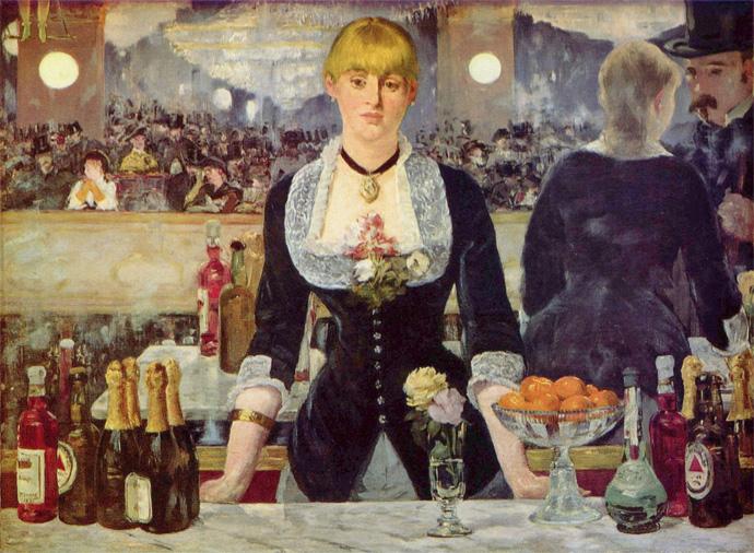 Serveuse des folies bergères peint par Manet