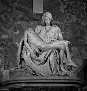 Piéta de Michel-ange, seule œuvre signée de sa vie