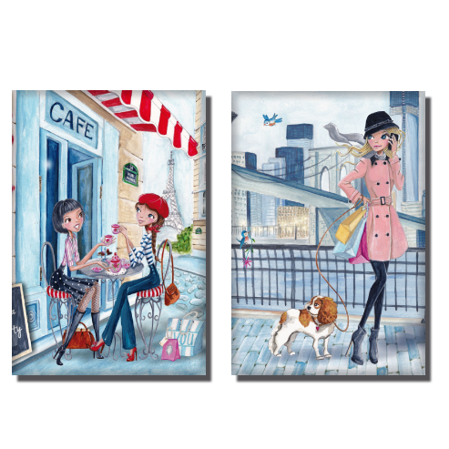Les illustrations de Cartita en magnets