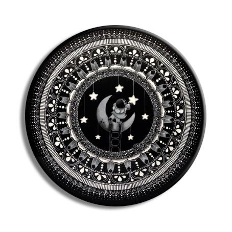 magnet pierrot - mandala pierrot 76mm
